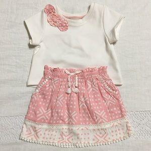 OshKosh - Pink & White Pattern Matching Set